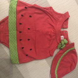 Summer bodysuit, romper, LC Waikiki dress 3-6 months