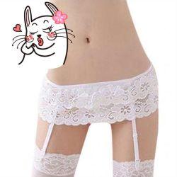 New belt for stockings white