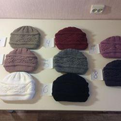 Тeплие в'язані жіночі шапки