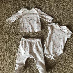 Set: body, sliders, blouse