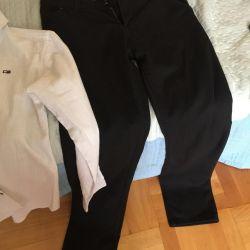 Okul pantolonu ve gömlek (13-14 yaş).