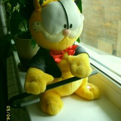 Soft toy Garfield mechanical