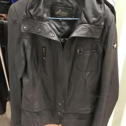 Natural leather jacket