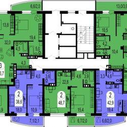 Apartment, 4 rooms, 96.6 m²
