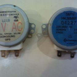 Mikrodalga fırın için elektrik motorları
