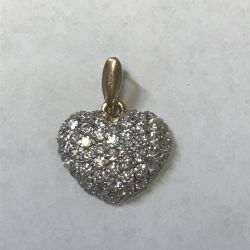 Gold pendant with cubic zirconia Heart