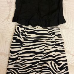 Skirt and top. Size 42