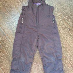 Pantaloni pentru o fată, creștere de iarnă 98