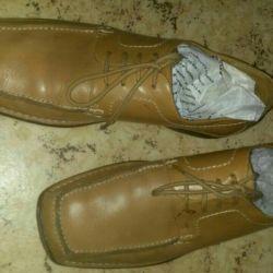 Moccasins Italy, leather, Laykovaya42-43