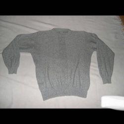 Cardigan men's gray wool50-52