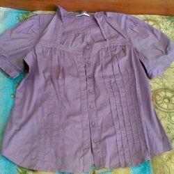 Pamuklu bluz, 52-54