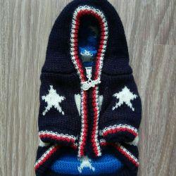 Mavi-beyaz kazak (köpek kıyafetleri)