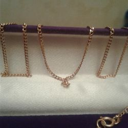 Gold chain 750 pr.