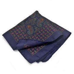 Silk Paisley Pattern Pocket Square