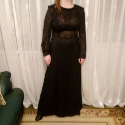 Long, black, evening dress