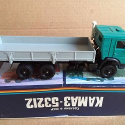 Model scale 1/43 Kamaz-53212 in a box of the USSR