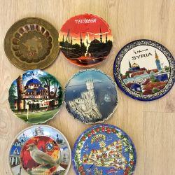 Διακοσμητικά πιάτα από διάφορες χώρες και πόλεις