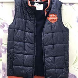Warm vest for a boy