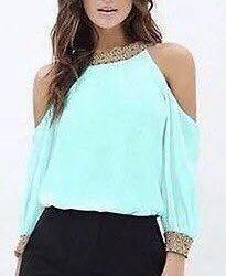 Tender mint blouse