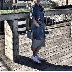 джинсовий тренч