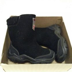 Boots with rubber soles