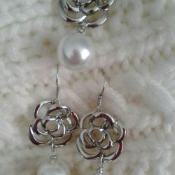 Jewelry sets: earrings + pendant.