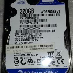 WD 320gb Hard Drive