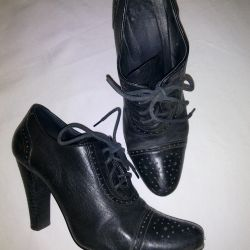 Leather Ankle Boots, Used