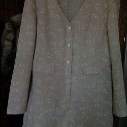 Платье-пиджак,лен, р-р50-52.