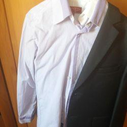 Gömlek gri yeni takım elbise