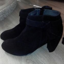 Ankle boots nat. suede.