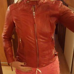 Kırmızı deri ceket 44-46