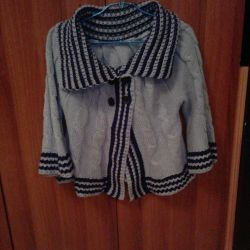 Warm knitted blouse