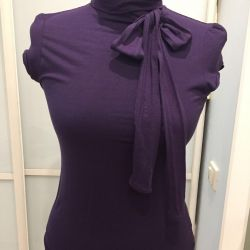 Turtleneck with short sleeves