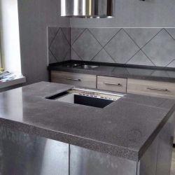 Blat de lucru pentru bucătărie cu insulă de piatră artificială
