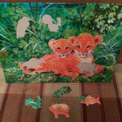 Puzzle cu animale.