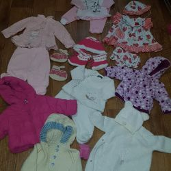 Clothes for girls from birth to 2 years, exchange