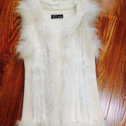 Vest with natural fur Love Republic