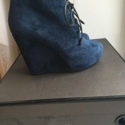 Ankle boots wedges New + spray
