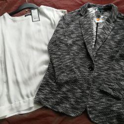 Новый пиджак трикотажный