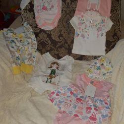 Одежда для девочки НОВАЯ 0-9мес