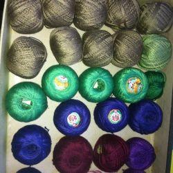 Threads of iris and mulina