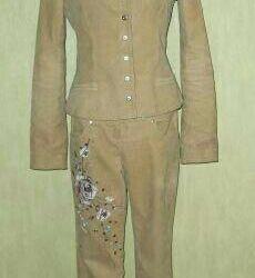 Kadife pantolon takım elbise, r. 44