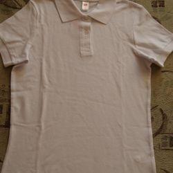 T-shirt white polo. new r. S Measurements