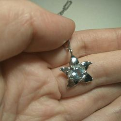 Цепочка с подвеской серебро