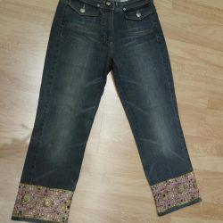 джинсы 3/4 ORWEL (премиум сегмента) с вышивкой