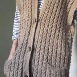 Cardigan-vest female warm