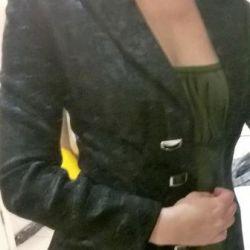 Gömme kadın ceket siyah