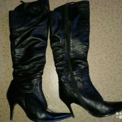 Leather boots CALIPSO