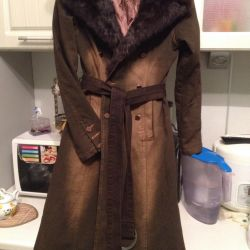 Coat with real fur. New.